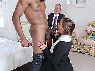 Young Amirah Adara sucking and fucking big black dick