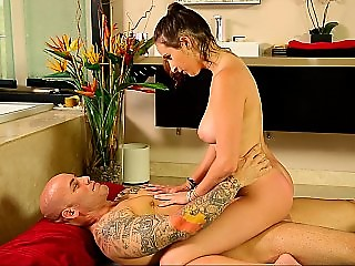 Nuru massage with a gorgeous busty masseuse