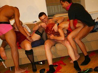 Incredibly nasty X-mas college orgy