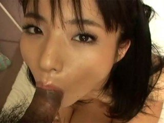 Scorching Japanese damsel heads down on man's dick before getting labia screwed